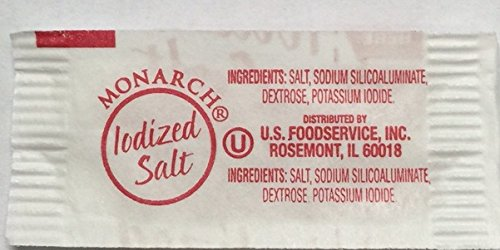 Monarch's Iodized Salt - 1,000 ct. .5 gm Packets