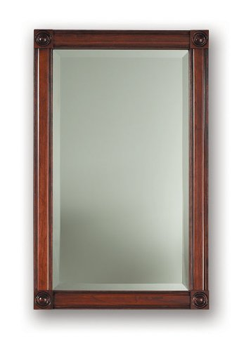 Jensen 850C Framed Soho Collection Single Recessed Bath Cabinet, 27-7/16-Inch High, Cherry Finish - Cherry Medicine Cabinet
