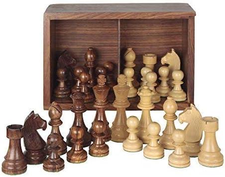 f06551 Fournier Pions d/échecs de bois Staunton n/º4/