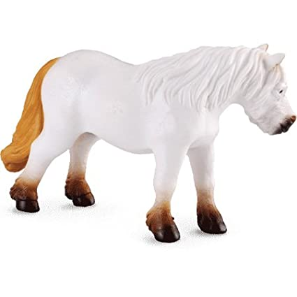Medium Shetland Pony White Figure by Collecta