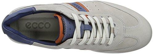 Ecco Chander - Zapatos de cordones para hombre Gris (Gravel/Burnt Ochre/Denim Blue)