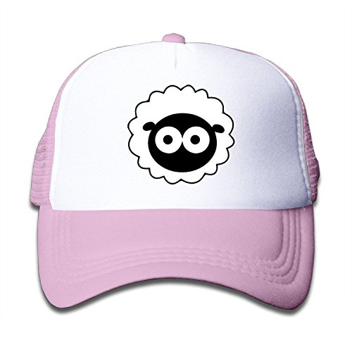 WH&SY UK Child Animation The Sheep Decline Children Mesh Trucker Cap Adjustable Fashion Kids Mesh Snapback Hat Snapback Hats SkyBlue