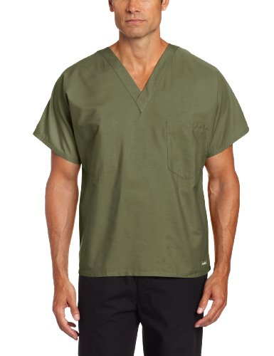 Medical Landau Scrub - Landau Unisex Scrub Top, Olive, Large
