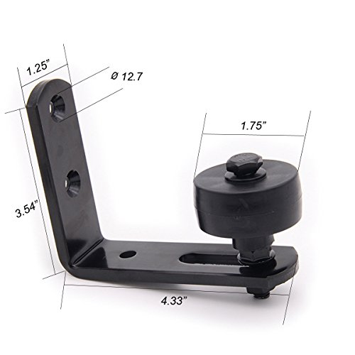 Black Wall Mounted Bottom Guide For Sliding Guide Stay Roller Adjustable For Barn Door Hardware | By - Creek Johnson Hours
