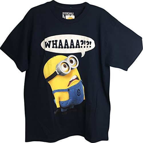 Despicable Me Whaaaa Men's Adult T-Shirt Navy -