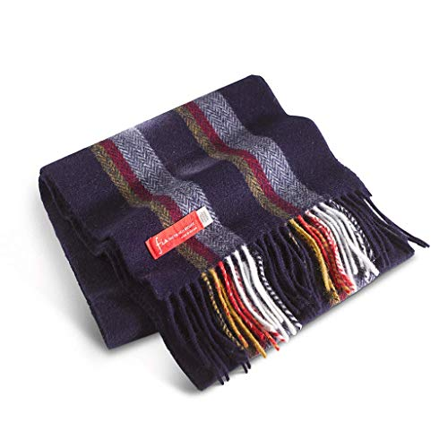 (FIA Soft and Warm Irish Wool Plaid Scarf for Men, 9