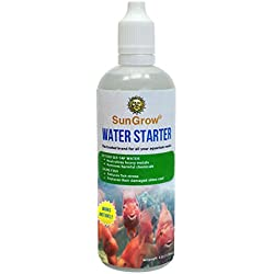 SunGrow Fish Water Conditioner - Aquarium Water Softener - Dechlorinator That Detoxifies Tap Water - Pet Stress Reliever During Water Change - Aloe Vera Promotes Slime Coat - Removes Ammonia, Nitrite