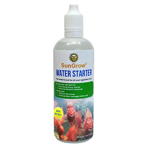 Tap Water Goldfish - Reduce fish stress with Water Starter --- Dechlorinate and Detoxify tap water of heavy metals and ammonia - Aloe Vera extract promotes natural slime coat - Use during each water change or adding fish