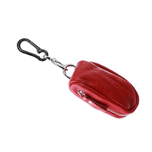 Pu Raccoglitore Borsa Supporto Magideal Donna Cuoio Portafoglio Rosso Sacchetto Portamonete Caso Uomo Portachiavi Chiave ZqXUwvEX