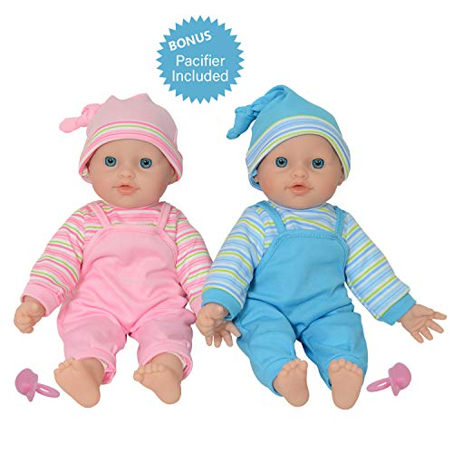 """The New York Doll Collection 12"""" Twins Baby Doll - Soft Body Twin Baby Dolls (12"""" Caucasian)"""