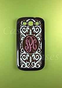 Monogram Samsung Galaxy S3 Case - Damask Monogrammed Samsung Galaxy S3 Cover, Customized