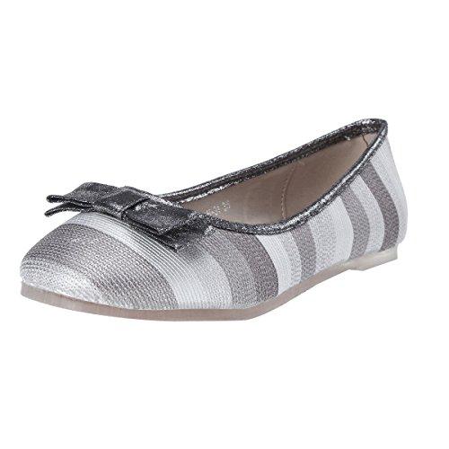 Damara Color Surtido Mujeres Zapatos Planos Con Lazo Aapatillas Casual Gris