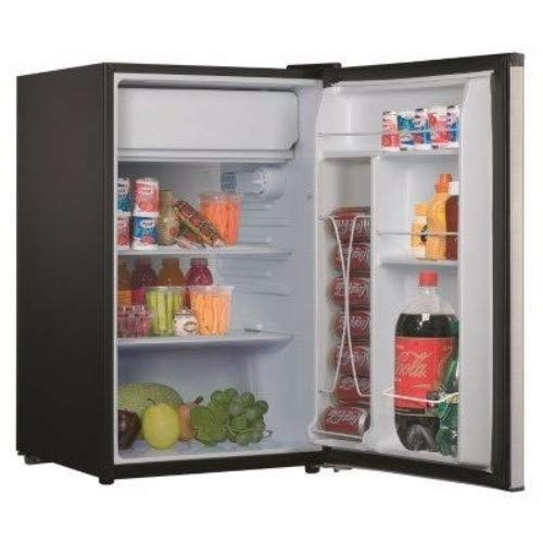 (Whirlpool WHR43S1E 4.3 cu ft Refrigerator, Stainless Steel)