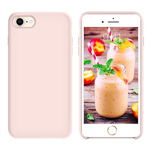 - GUAGUA iPhone 8 Case iPhone 7 Case Liquid Silicone Gel Rubber Cover with Soft Microfiber Cloth Lining Cushion Slim Fit Lightweight Shockproof Protective Durable Phone Cases for iPhone 7/iPhone 8 Pink