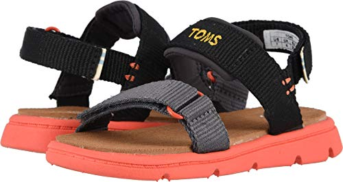 (TOMS Kids Baby Boy's Ray (Toddler/Little Kid) Black Solid Webbing 9 M US)