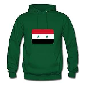 Unique Chic Designed Sweatshirts Cotton Syria Flag Round Corner 400 Dpi X-large Women Green