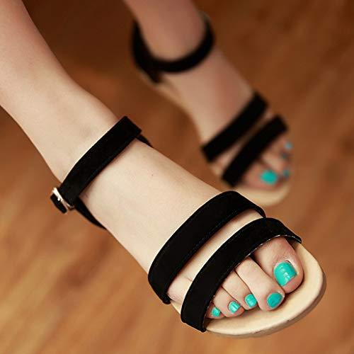 Été Plage Femmes Mode Chaussons Noir Plates Romaines Sexy Chaussures Sandales sandales Femme 7nRdqffXY