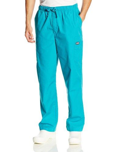 Cherokee Workwear Scrubs Men's Cargo Pant, Teal Blue, XX-Large