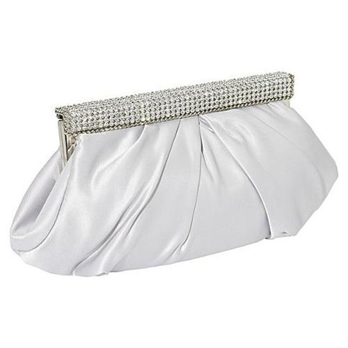 J. Furmani Satin Clutch (Silver) (Furmani Satin Clutch)