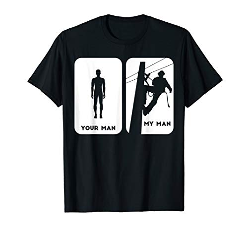 Your Man My Man Lineman Shirt | Electric Cable Shirt Gift