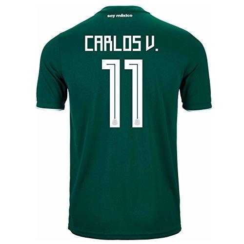 セレナヒント限られたAdidas Carlos V # 11 Mexico Home Soccer StadiumメンズJersey World Cup Russia 2018