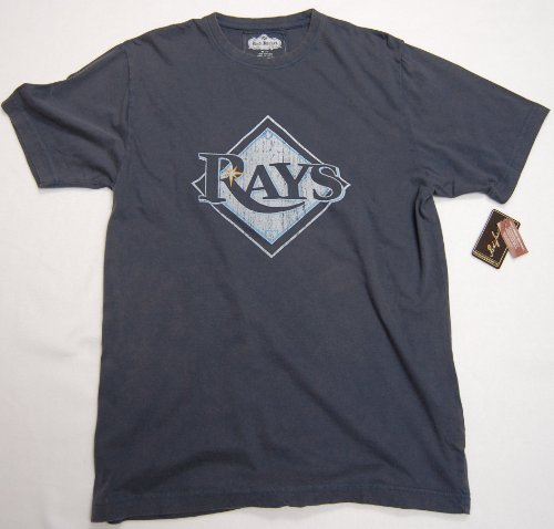 Tampa Bay Rays Retro Logo T-Shirt By Red - Tampa Bay Rays Jacket