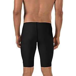 Speedo Men's Endurance+ Polyester Solid Jammer Swimsuit