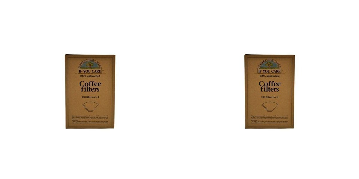 (4 PACK) - If You Care Coffee Filters No.4 - Large Unbleached | 100s | 4 PACK - SUPER SAVER - SAVE MONEY Source Atlantique Uk Ltd