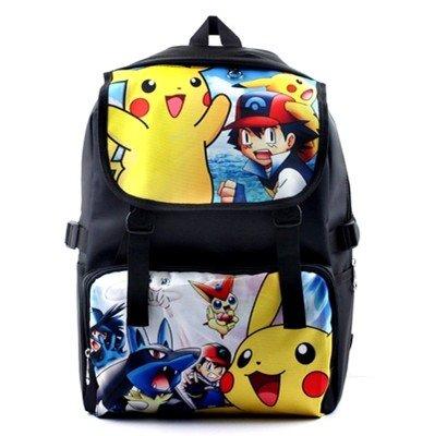 Cuero-de-la-vaca-Piel-Cartera-Multi-bolsillos-Monedero-Cartera-fina-hombre-Anime-Purse-Pokemon-Go-Bag-Pikachu-Historietas-Moda-Mochila