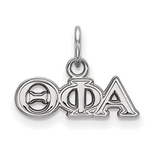 Sterling Silver LogoArt Theta Phi Alpha XS Pendant
