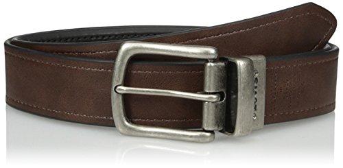 Levi's Men's Reversible Casual Belt, black/Brown, Medium