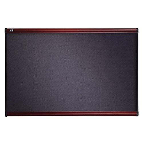 Quartet Prestige Grey Diamond Mesh Fabric Bulletin Board, 4 x 3 Feet, Mahogany Finish Frame ()