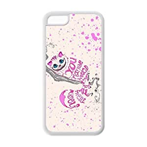 Case Cover for iPhone 5c Strong Protect Case Cute Space Cats with Sunglasses Printed Case Perfect as Christmas gift(2)