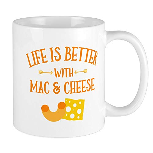 CafePress Life's Better Mac & Cheese Unique Coffee Mug, Coffee Cup ()
