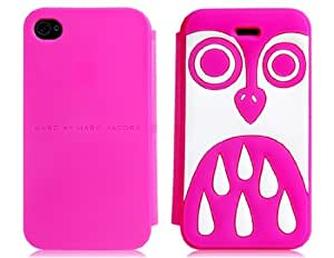 Owl Design Silicone Flip Case for iPhone 4/ 4S (Rose Red)