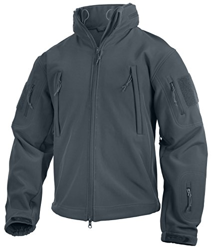 Rothco Special Ops Tactical Soft Shell Jacket, S, Gun Metal Grey