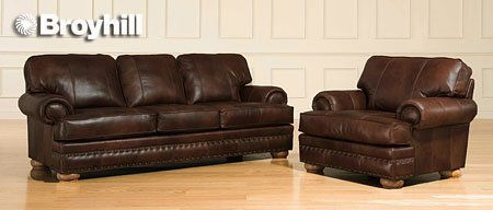 Marvelous Amazon.com: Brockton Collection Leather Sofa   Broyhill L493 3Q: Kitchen U0026  Dining