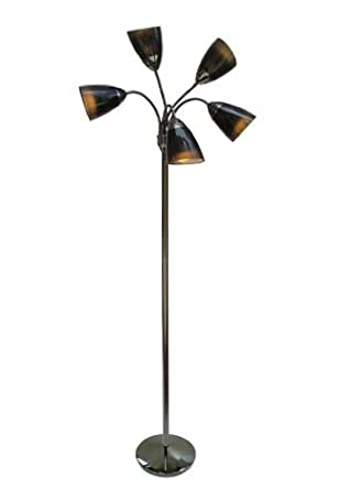 Room essentials 5 head floor lamp black amazon room essentials 5 head floor lamp black mozeypictures Images