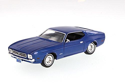 1971 Ford Mustang Sportsroof, Blue - Motormax Premium American 73327 - 1/24 Scale Diecast Model Car -  Motor Max, 73327BU