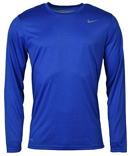 - Nike Men's Legend Long Sleeve Tee, Royal, L