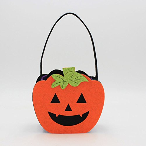 Halloween Costume Felt Creative Non-Woven Ghost Pumpkin Skull Tote Bag Decorations Props -