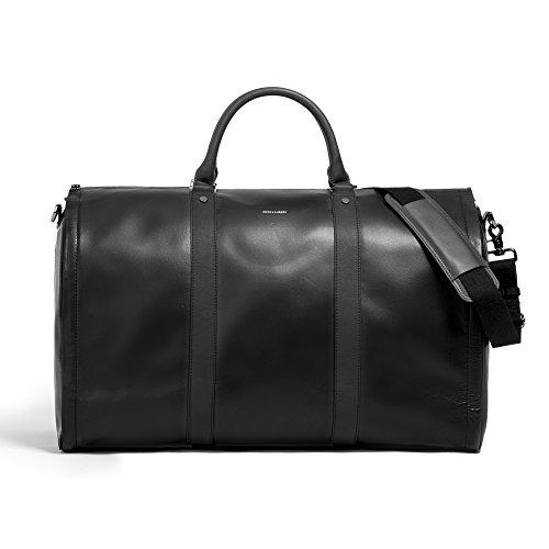 Albert Leather - Project 11 Garment Weekender Black Leather bag by Hook & Albert