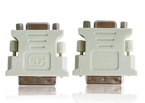 PC-Mart. New DVI-D Male 24+1 Pin to 15 Pin VGA Female Adapter Video Monitor Adapter Converter ( DVI 24+1 Pin )