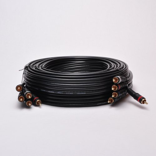 AYA 20Ft 5-RCA Component Video/Audio Coaxial Cable (RG-59/U) for HDTV DVD VCR