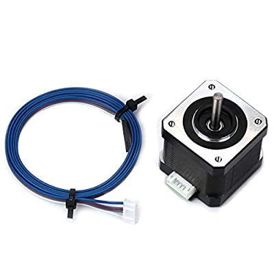 FYSETC 3D Printer Motors Nema 17 Stepper Motor 40 Motor 1.5A 2 Phase 4 Wires 1.8 Degree with 39.3 inch Cable for 3D Printer Extruder Y Axis CNC Reprap