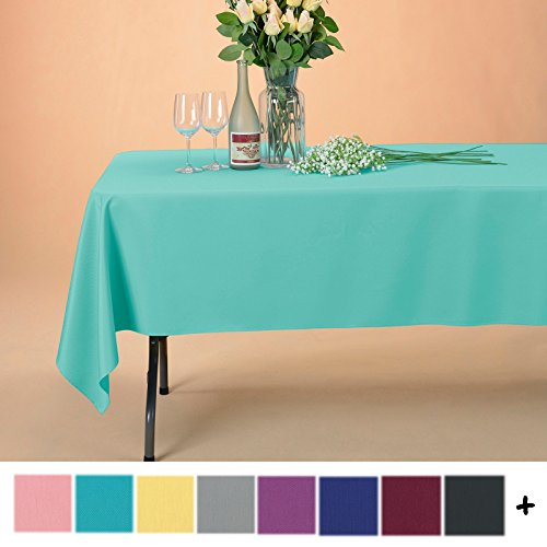 Remedios 60 x 126-inch Rectangle Polyester Tablecloth Table Cover - Wedding Restaurant Party Banquet Decoration, Turquoise
