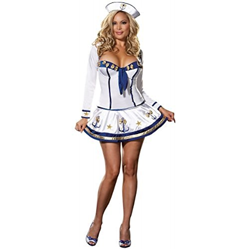 Up Costume 40s Pin Sailor (Makin Waves Adult Costume - Plus Size)