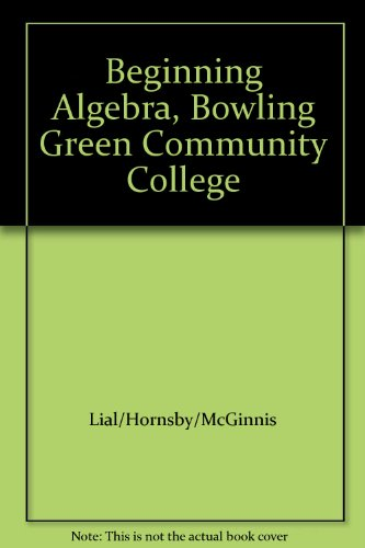 Beginning Algebra, Bowling Green Community College