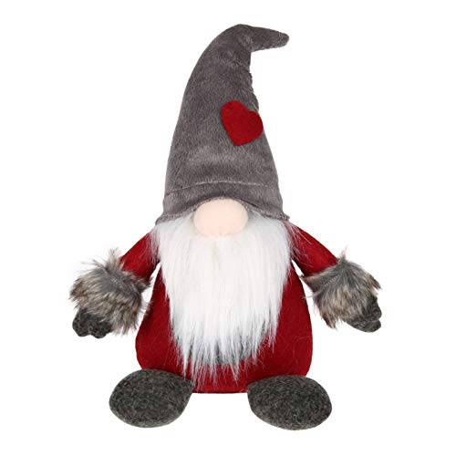 OlimP-Shop Grey Hat Christmas Swedish Santa Claus Lucky Gnome Tomte Santa Plush Toys Doll Kids Gifts