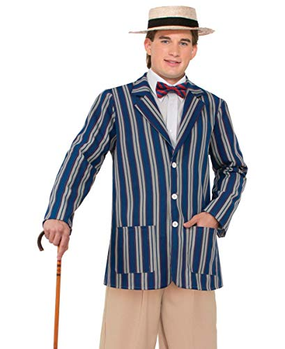 Forum Novelties Men's Roaring 20's Halloween Boater Jacket, Multi, X-Large -